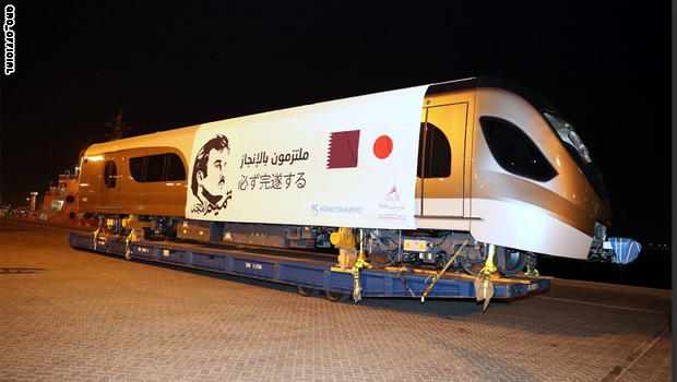 Qatar receives the first batch of Doha Metro trains after 21 days of sea voyage